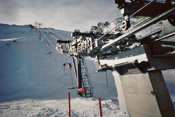 Blick von der Talstation nach oben