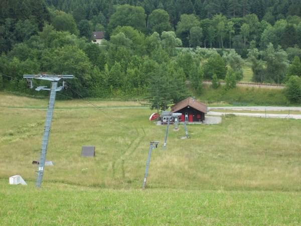 Blick auf die Talstation des Skilift Stockinger
