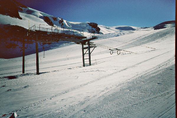 Bergstation auf Gletscher
