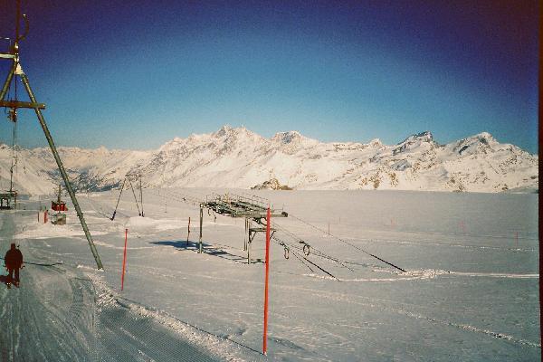 rechts die Bergstation vom SL Gandegg